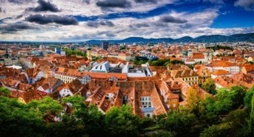 Stunning,Panorama,Of,Graz,City,In,Austria