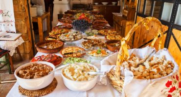 Traditional,Serbian,Lunch,,Note,Shallow,Depth,Of,Field