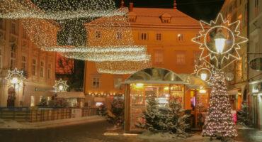 Winter scenes at Alter Platz in Klagenfurt/Carinthia