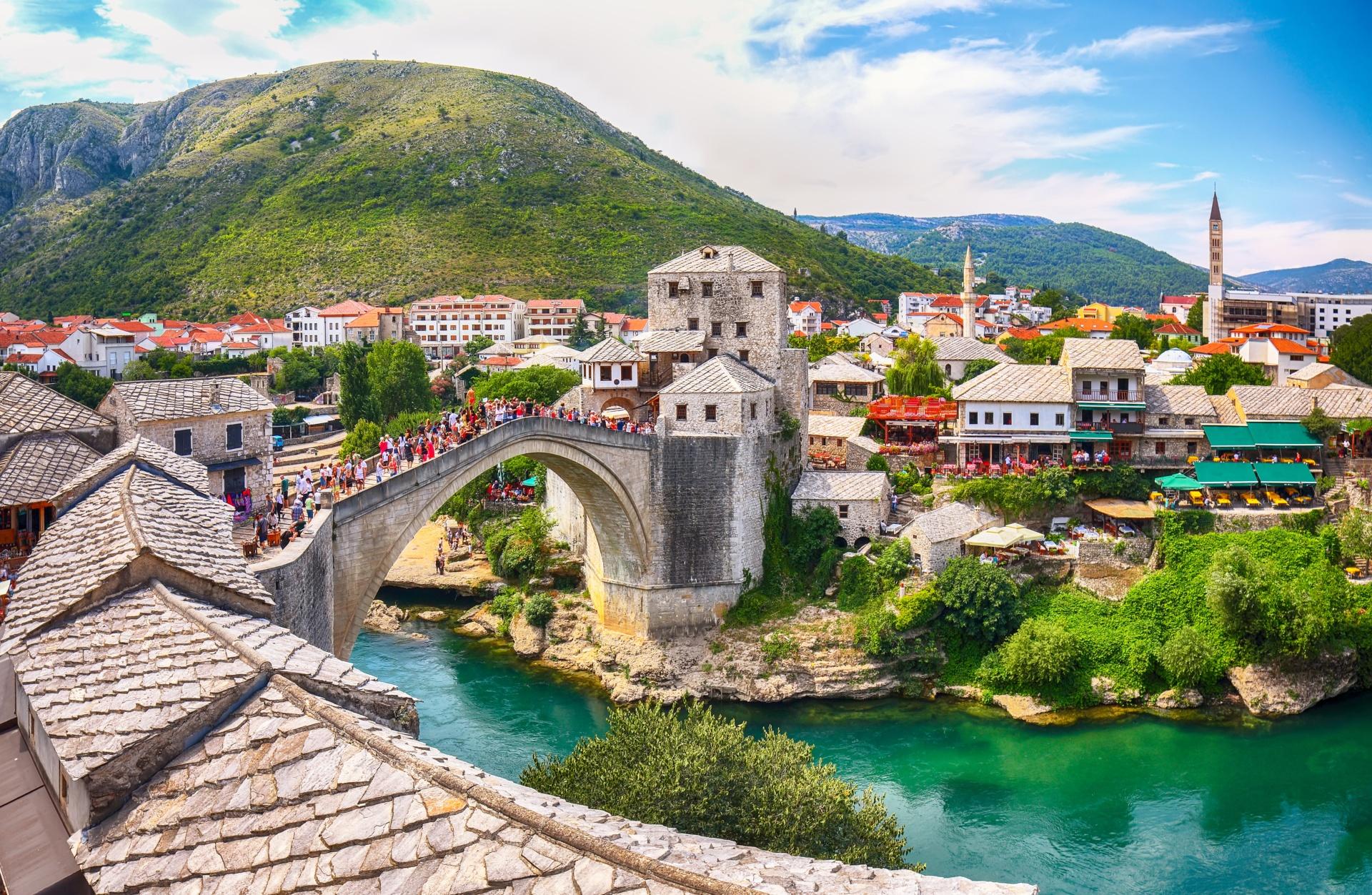 Obiranje mandarin in Mostar