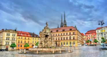 Parnas-Fountain-on-Zerny-trh-square-in-the-old-town-of-Brno-Moravia-Czech-Republicshutterstock_1030045075